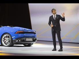 Stephan Winkelmann, President and CEO of Automobili Lamborghini and New Lamborghini Huracán LP 610-4 Spyder 7