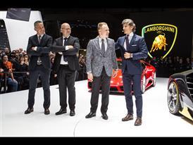 Lamborghini Press Conference at the 2016 Geneva Motor Show