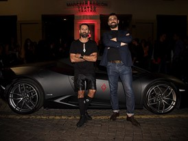 Marcelo Burlon and Boris Puddu, Head of Collezione Automobili Lamborghini