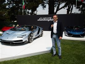 Stefano Domenicali presents the Centenario Roadster at The Quail
