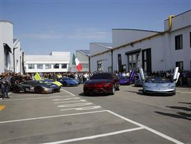 Car display at Automobili Lamborghini