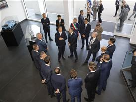 M. Renzi welcomed by the Automobili Lamborghini Management Board
