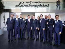 M. Renzi with Automobili Lamborghini Management Board