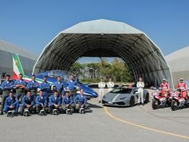 Pattuglia Nazionale Acrobatica and Lamborghini-Ducati