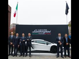 The Lamborghini Team in Boston