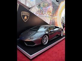 The Lamborghini Huracán on display