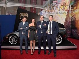 The Lamborghini team at Doctor Strange Premiere