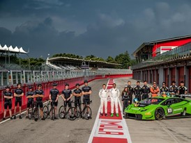 The Young Drivers of Lamborghini Squadra Corse on Track at Imola for the First Training Session