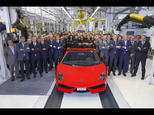 Last Gallardo and Assembly Line + Lamborghini Team