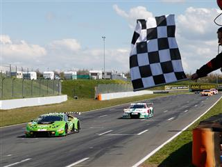 The Lamborghini Huracán GT3 has won the first round of ADAC GT Masters