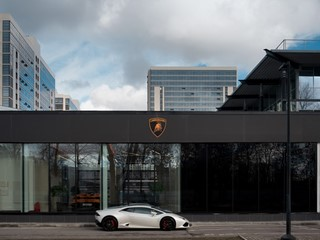 Lamborghini opens first showroom in Saint Petersburg, Russia, in new corporate design