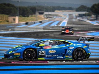 Postiglione and Cecotto take their third victory in a row  in the Lamborghini Super Trofeo Europe at Paul Ricard