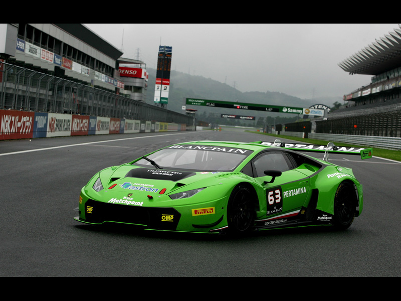 The Lamborghini Hurac+ín GT3 on Display at Fuji