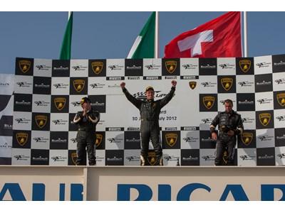 Andrea Amici claims win in hot & eventful Lamborghini Blancpain Super Trofeo race at Paul Ricard