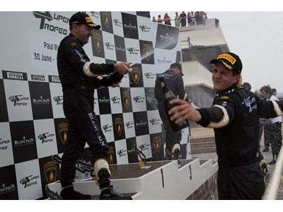 Andrea Amici drives a controlled race to his second win of the Lamborghini Blancpain Super Trofeo race weekend at Paul Ricard