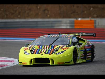 The Lamborghini Huracán GT3 in Top Positions During 2016 Blancpain Gt Official Test Days at Paul Ricard