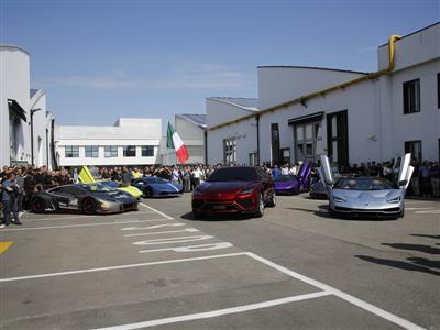 Car display at Automobili Lamborghini