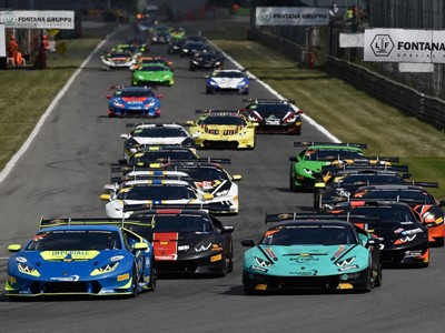 Spinelli and Grenier Win Race 2 during the First Round of the Lamborghini Super Trofeo Europe at Monza