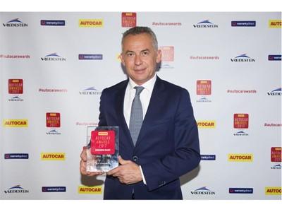 Maurizio Reggiani with Autocar Innovation Award