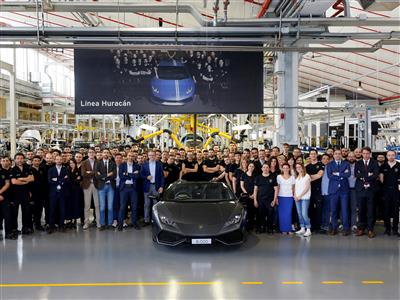 Photo News: Production record for Automobili Lamborghini: 8.000 Huracán produced in 3 years