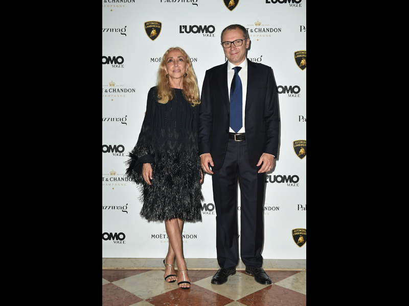 Franca Sozzani and Stefano Domenicali