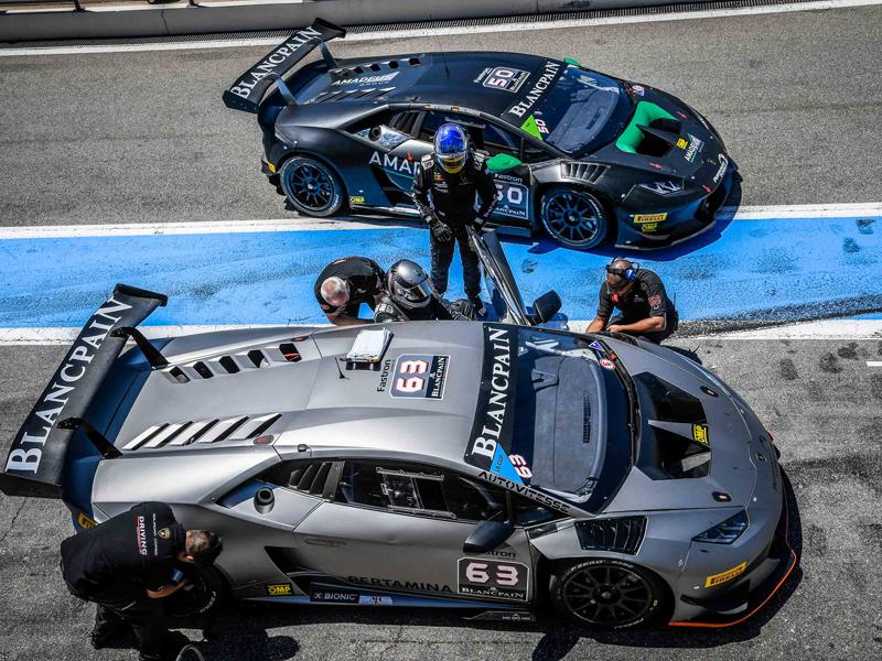 Image : Lamborghini Super Trofeo Pit-stop