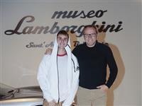 Justin Bieber at Automobili Lamborghini