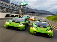 Lamborghini sets an attendance record at the Daytona 24 Hours  with eight Huracán GT3s at the start