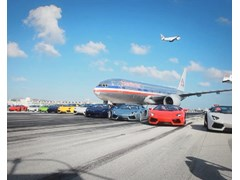 Lamborghini Aventador LP 700-4 Roadster High Speed Demonstration on Closed Miami International Airport Runway