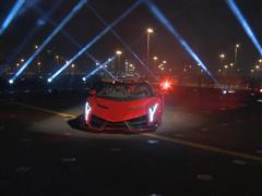 Lamborghini World Premiere of Veneno Roadster - €3.3 Million Super Sports Car Makes Public Debut on Italian Aircraft Car