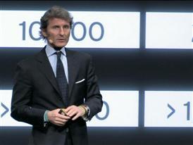 Stephan Winkelmann, President and CEO of Automobili Lamborghini, presents the new Lamborghini Huracán LP 610-4