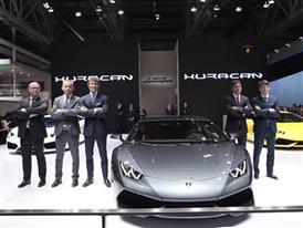 Automobili Lamborghini at the Auto China 2014 in Beijing