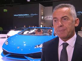 Maurizio Reggiani, Director for R&D, introduces the New Lamborghini Huracán LP 610-4 Spyder (Italian)