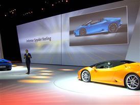 New Lamborghini Huracán LP 610-4 Spyder - Worldwide premiere (in German)
