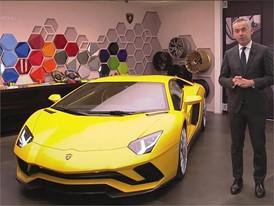 Maurizio Reggiani, Director Research and Development, presents the new Lamborghini Aventador S (Italian)