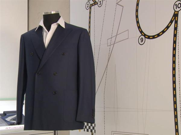 Tailored suit by Collezione Automobili Lamborghini and d'Avenza
