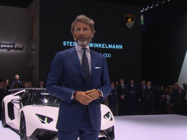 Lamborghini Press Conference at 2015 Frankfurt Motor Show