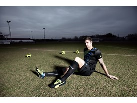 Olivier Giroud wears the new PUMA evoSPEED 1.2 FG