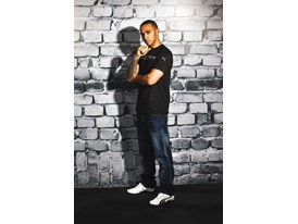 Lewis Hamilton Wears the SS13 PUMA MERCEDES AMG PETRONAS Lifestyle Collection - Image 004
