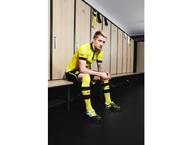 Marco Reus wears the new PowerCat 1 FG