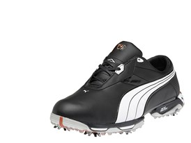 Lux Collection Zero Limits Golf Shoe in Black/ White/ Cherry Tomato