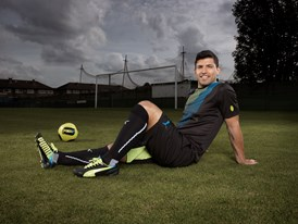 New Imagery Available: Sergio Agüero wears the latest PUMA evoSPEED 1.2