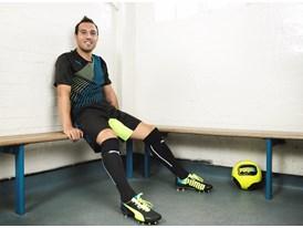 New Imagery Available: Santi Cazorla wears the latest PUMA evoSPEED 1.2