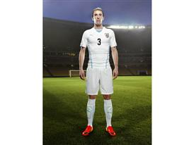 Diego Godín in the 2014 Uruguay Away Kit that features PUMA's PWR ACTV Technology