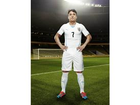 Cristian Rodríguez in the 2014 Uruguay Away Kit that features PUMA's PWR ACTV Technology
