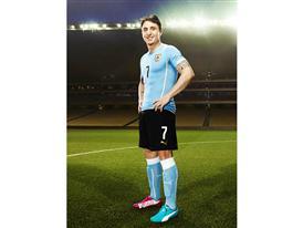Cristian Rodríguez will wear PUMA evoSPEED Tricks in Brazil