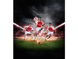 PUMA Launches the 2015-16 Arsenal Home Kit Cazorla Ozil Sanchez 2