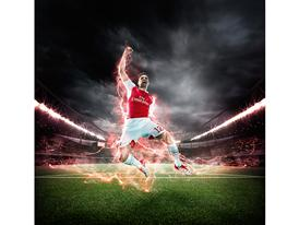 PUMA Launches the 2015-16 Arsenal Home Kit Giroud 2