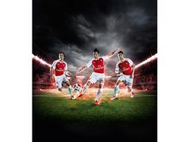 PUMA Launches the 2015-16 Arsenal Home Kit Rosicky Cazorla Giroud 2