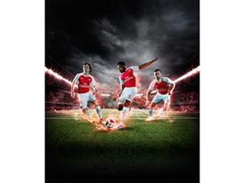 PUMA Launches the 2015-16 Arsenal Home Kit Rosicky Welbeck Ramsey 1